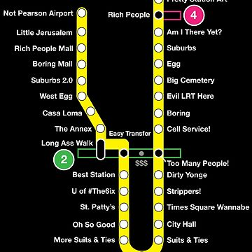 Line 1 Parody Map by ThatOtherZach
