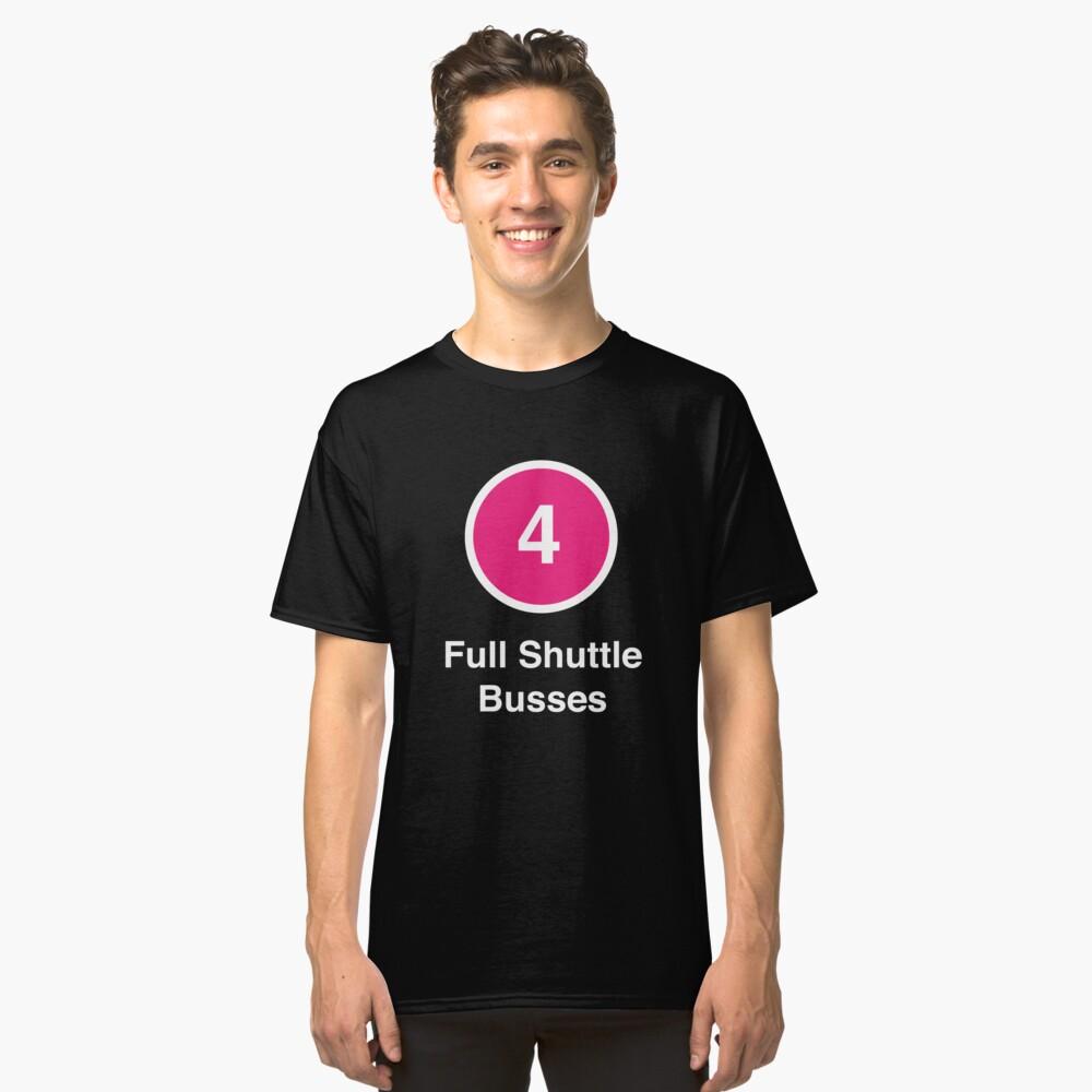 Full Shuttle Busses Classic T-Shirt Front