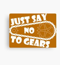 Just Say No To Gears Canvas Print