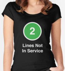Lines Not In Service Women's Fitted Scoop T-Shirt