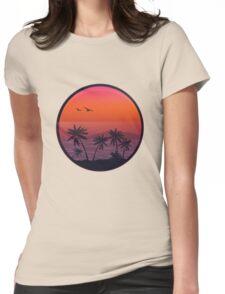 PANAMA BEACH SUNSET Womens Fitted T-Shirt