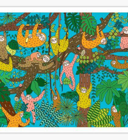 Happy Sloths Jungle  Sticker