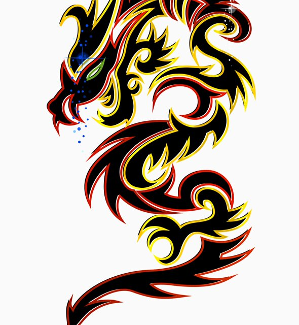 Black Fire Dragon Design by Keywebco