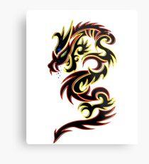 Black Fire Dragon Design Metal Print