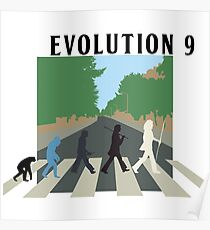 Evolution #9 (Beatles' Abbey Road/March of Progress) Poster