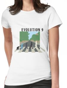 Evolution #9 (Beatles' Abbey Road/March of Progress) Womens Fitted T-Shirt