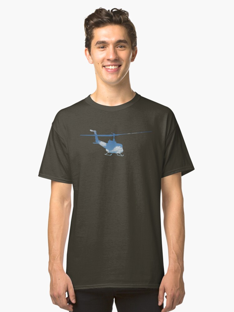 Helicopter Sky Classic T-Shirt Front