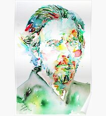 ALAN WATTS portrait Poster