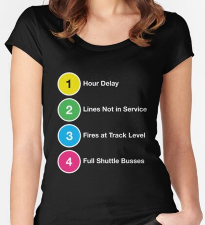 Line Delays Women's Fitted Scoop T-Shirt