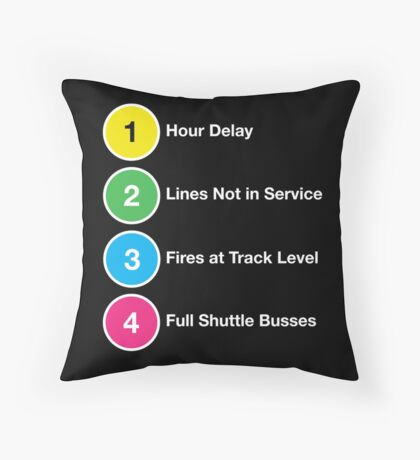 Line Delays Throw Pillow