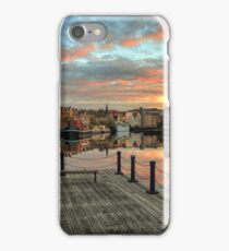 HDR Sunset over the Shore in Leith, Edinburgh iPhone Case/Skin