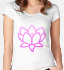 Lotus Pink Women's Fitted Scoop T-Shirt