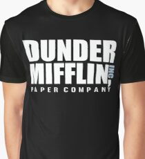 Dunder Mifflin The Office Funny Typography Text Logo Shirts Graphic T-Shirt
