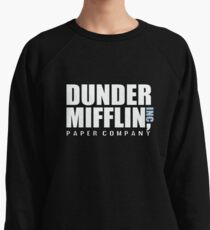 Dunder Mifflin The Office Funny Typography Text Logo Shirts Lightweight Sweatshirt