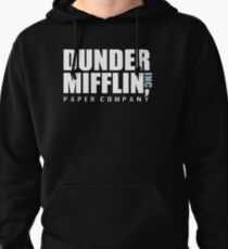 Dunder Mifflin The Office Funny Typography Text Logo Shirts Pullover Hoodie