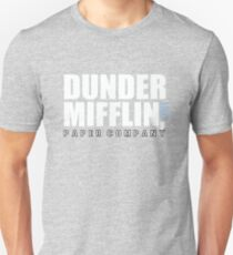 Dunder Mifflin The Office Funny Typography Text Logo Shirts T-Shirt