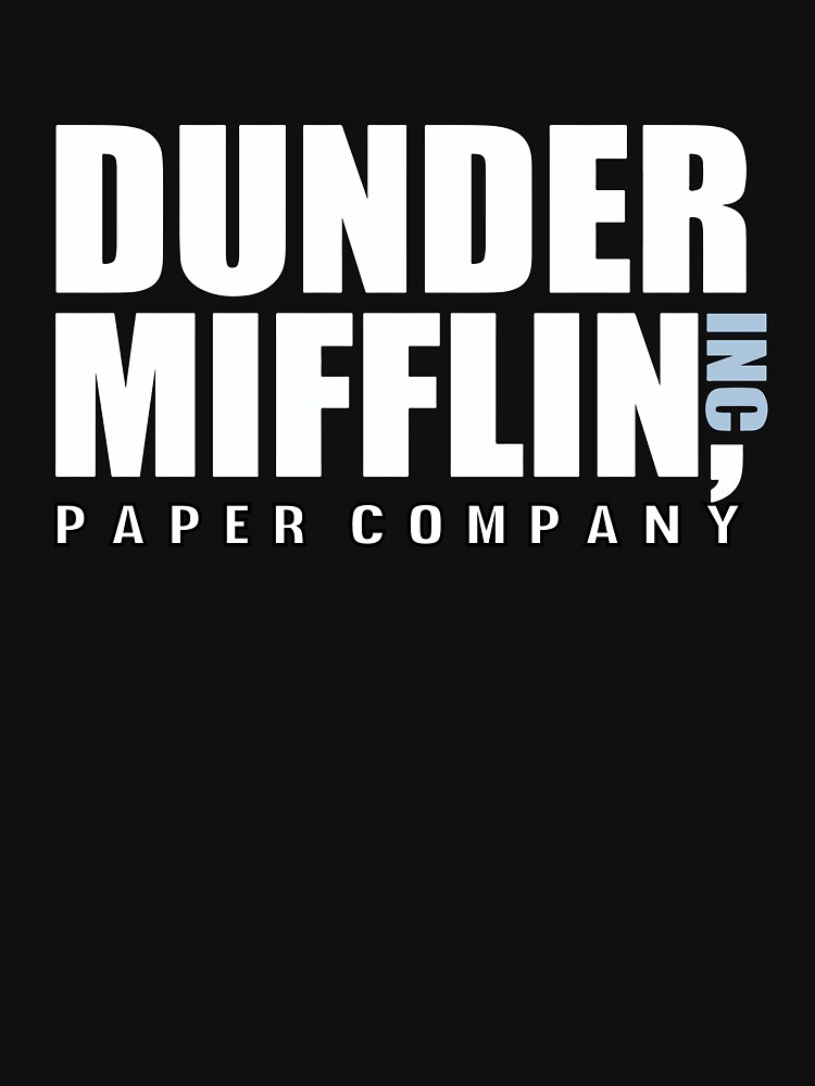 Dunder Mifflin The Office Funny Typography Text Logo Shirts by Sago-Design