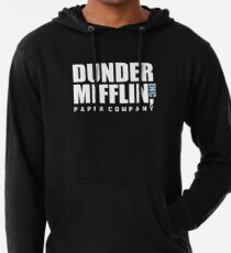 Dunder Mifflin The Office Funny Typography Text Logo Shirts Lightweight Hoodie