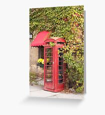 An old style telephone booth Greeting Card