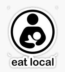 Breast feeding eat local milk baby mother new mum newborn motherhood Sticker