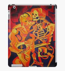 A Skeleton and A Corpse Embracing Death iPad Case/Skin