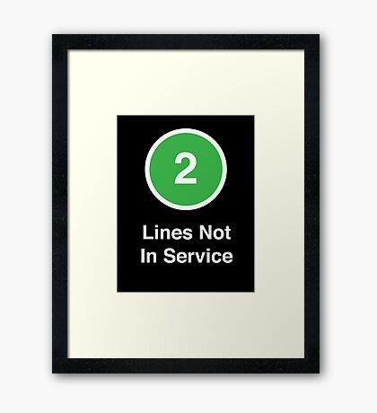 Lines Not In Service Framed Print
