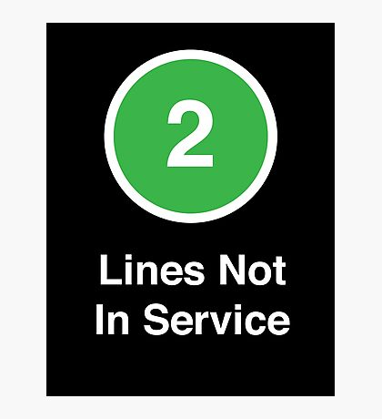 Lines Not In Service Photographic Print