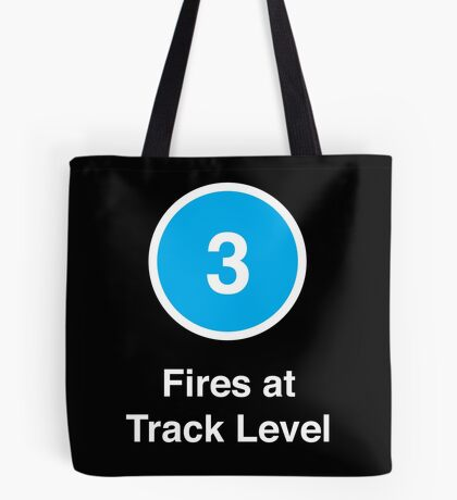 Fires at Track Level Tote Bag
