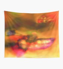 Art Scarf in Yellow, Pink and Purple Wall Tapestry