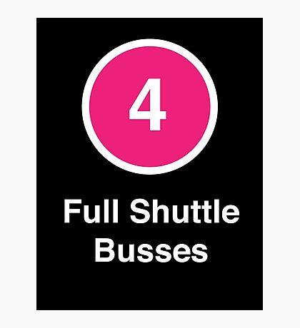 Full Shuttle Busses Photographic Print