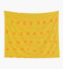 Geometric Art Hardcover Journal in Yellow and Orange Wall Tapestry