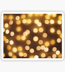 Abstract defocused and blur bokeh of small yellow flames Sticker
