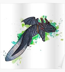 Toothless The Axolotl  Poster