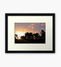 Sunbeams in the afternoon Framed Print
