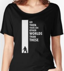The Dark Tower Worlds white Women's Relaxed Fit T-Shirt