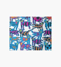 Colorful Abstract Coyote Art Duvet Cover Art Board