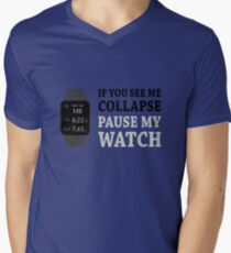 Wenn ich Pause reduziere meine Uhr T-Shirt mit V-Ausschnitt für Männer