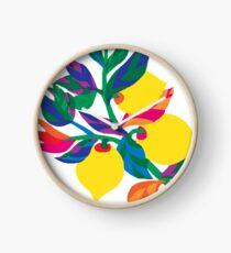 Lemon Abstract Print iPhone 6 Case Clock
