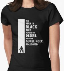 The Dark Tower Desert white Womens Fitted T-Shirt