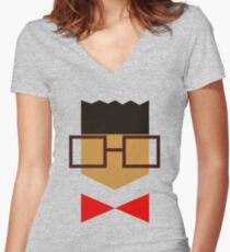 High Top Gizmo Women's Fitted V-Neck T-Shirt
