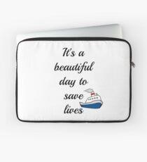 Es ist ein schöner Tag, um Leben zu retten Laptoptasche