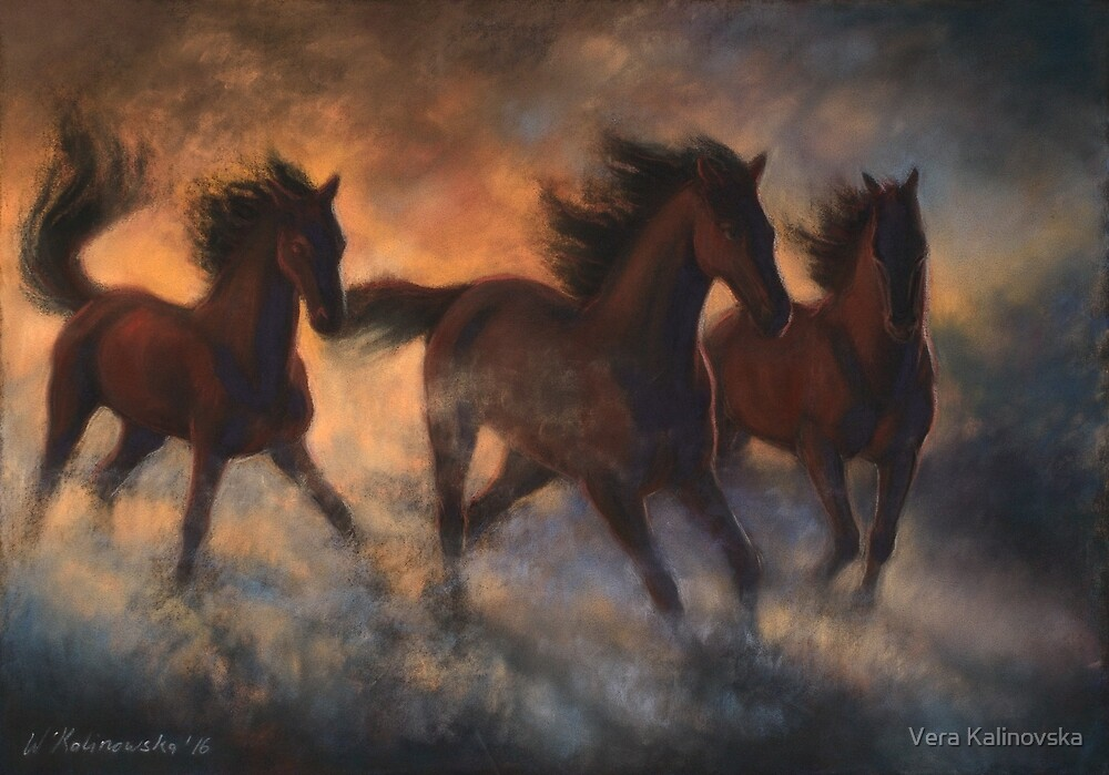 Freedom at sunrise by Vira Kalinovska