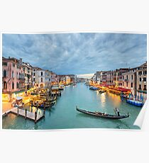 Clouds over the Grand Canal, Venice Poster