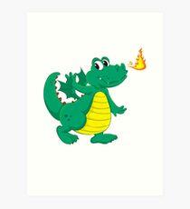 Happy Luck Dragon Art Print