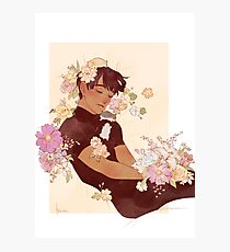 Phichit + Flowers + Hamsters Photographic Print