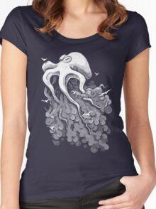Deep Cloud Women's Fitted Scoop T-Shirt