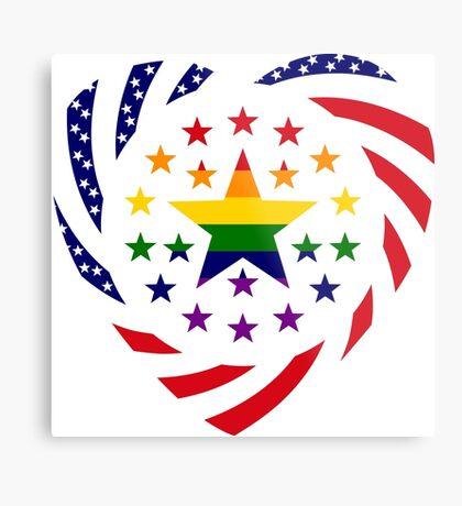 Love is Love American Flag 2.0 (Heart) Metal Print