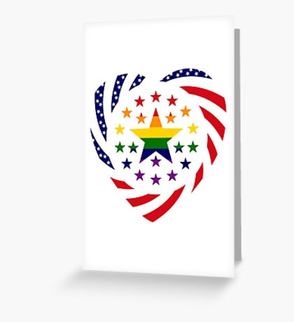 Love is Love American Flag 2.0 (Heart) Greeting Card