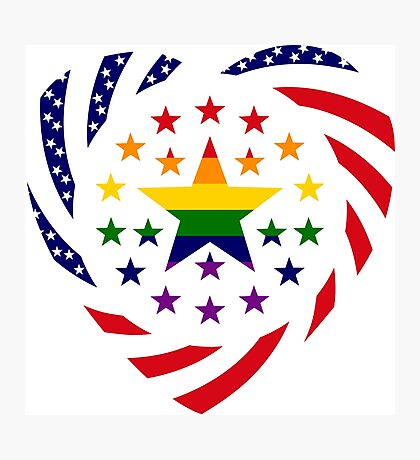 Love is Love American Flag 2.0 (Heart) Photographic Print