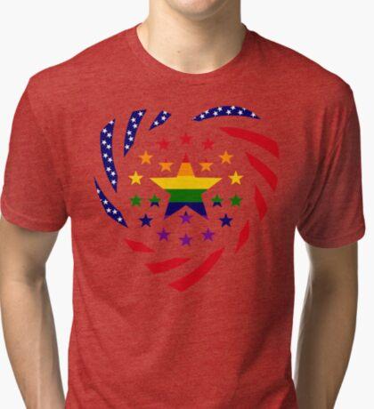 Love is Love American Flag 2.0 (Heart) Tri-blend T-Shirt